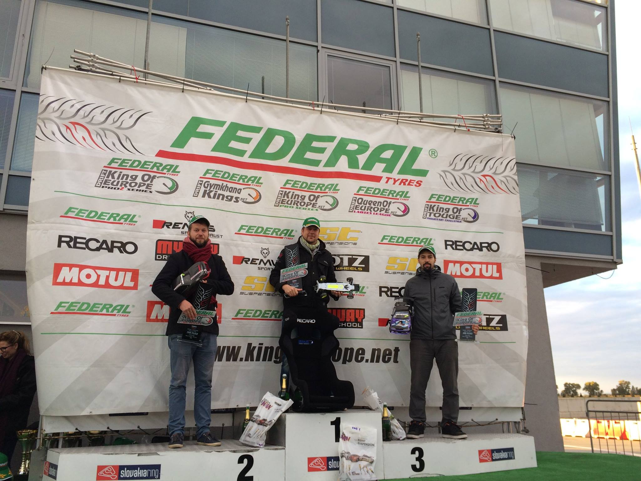 King Of Europe RC series podiumas